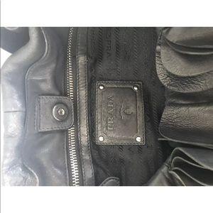 c141a6bbf8bc Prada Bags - PRADA Ruffle Hobo Handbag Large Black Leather